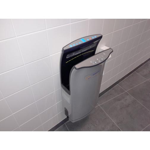 Jet Dryer SMART Stříbrný + AKCE a Záruka+, Tryskový osoušeč rukou, HEPA filtr H12