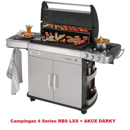Campingaz 4 Series RBS LXS + AKČNÍ SET, Zahradní plynový gril s bočním vařičem /2000015658/