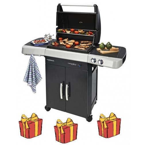 Campingaz 2 Series RBS LX INT + AKČNÍ SET, Zahradní plynový gril, litinový rošt Culinary Modular /2000025143/