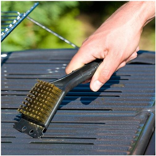 Campingaz 2000032607 Čistící kartáč 2v1 (mosazné štětiny, škrabka)