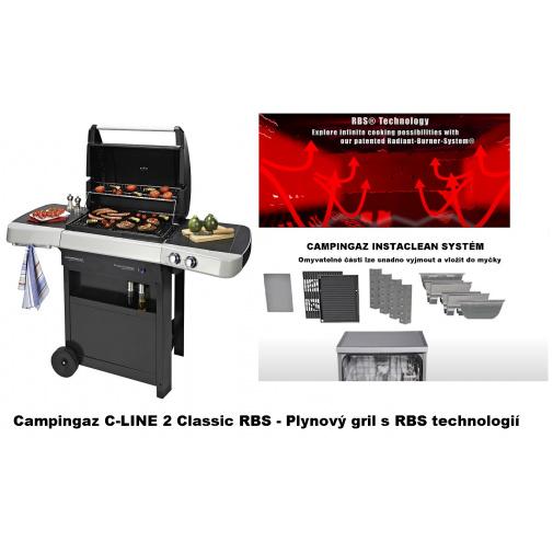 Campingaz C-LINE 2 Classic RBS + AKCE Dárek+, Zahradní plynový gril s RBS technologií /2000032077/