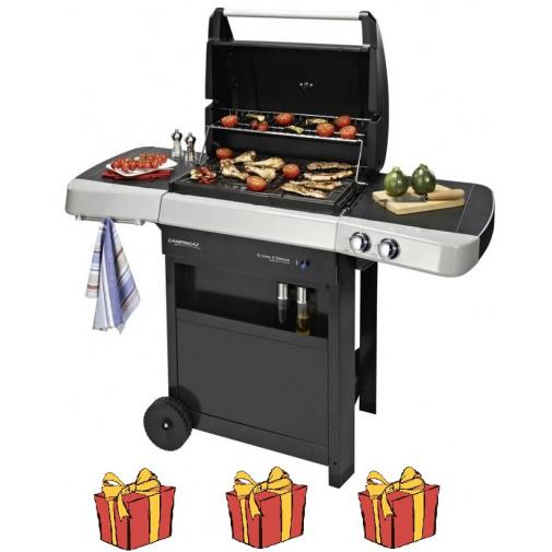Campingaz C-LINE 2 Deluxe RBS + AKČNÍ SET, Zahradní plynový gril Culinary /2000032078/