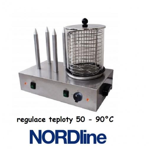 NORDline HD-04 Hot-Dog + AKCE Bonus, Profi čtyřtnový ohřívač párků a rohlíků, párkovač