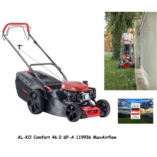 AL-KO Comfort 46.0 SP-A + AKCE Zprovoznění a více, Benzínová sekačka s pojezdem /119936/, záběr 46cm