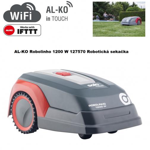 AL-KO Robolinho 1200 W Robotická sekačka na trávu pro plochy do 1200m2 /127570/, WiFi