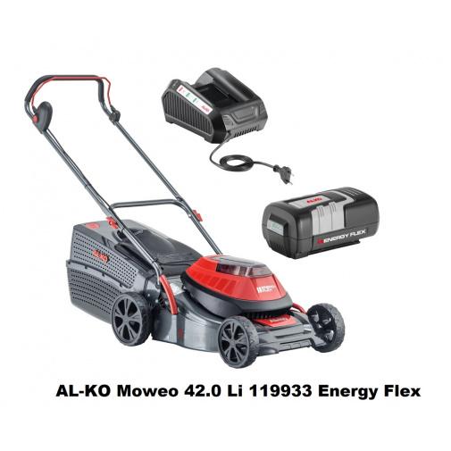 AL-KO Moweo 42.0 Li 119933 Energy Flex + Zprovoznění, AKU sekačka na trávu, včetně baterie 4Ah a nabíječky