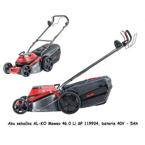 AL-KO Moweo 46.0 Li SP 119934 + Zprovoznění, AKU sekačka s pojezdem, včetně baterie 5Ah a nabíječky