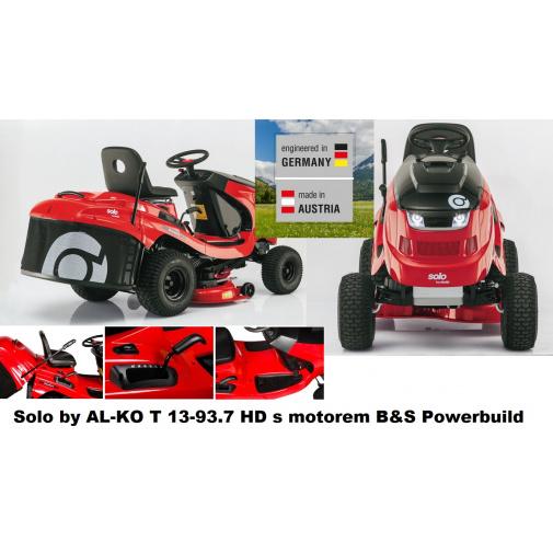 Solo by AL-KO T 13-93.7 HD Comfort 127416 + AKCE Zprovoznění, Zahradní travní traktor s košem, B&S Powerbuild