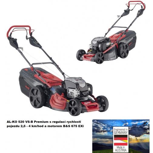 AL-KO Premium 520 VS-B + AKCE Zprovoznění a více, Benzínová sekačka s regulací pojezdu /119949/, B&S 675 EXi