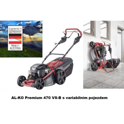 AL-KO Premium 470 VS-B + AKCE Zprovoznění a více, Benzínová sekačka s variabilním pojezdem /119947/, B&S 650 EXi