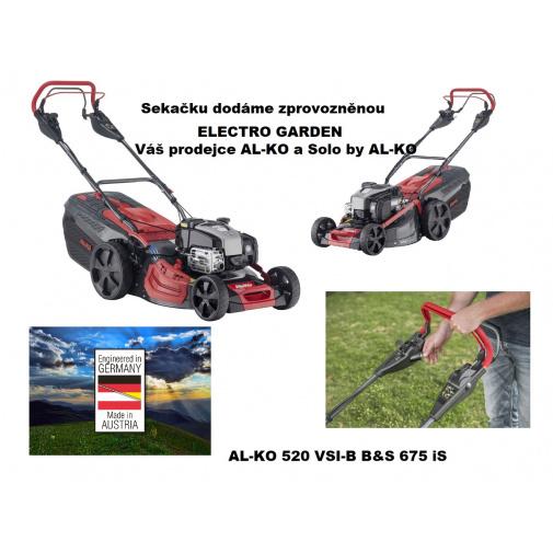 AL-KO Premium 520 VSI-B + AKCE Zprovoznění a více, Benzínová sekačka s elektrostartem a regulací pojezdu /119948/, B&S 675 iS