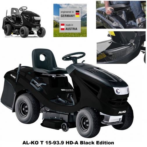 AL-KO T 15-93.9 HD-A Black Edition Hydrostat 119932 + AKCE Zprovoznění, Zahradní travní traktor s košem