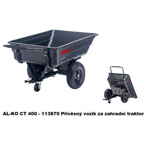AL-KO CT 400 - 113870 Přívěsný vozík za zahradní traktor (nosnost 400kg)