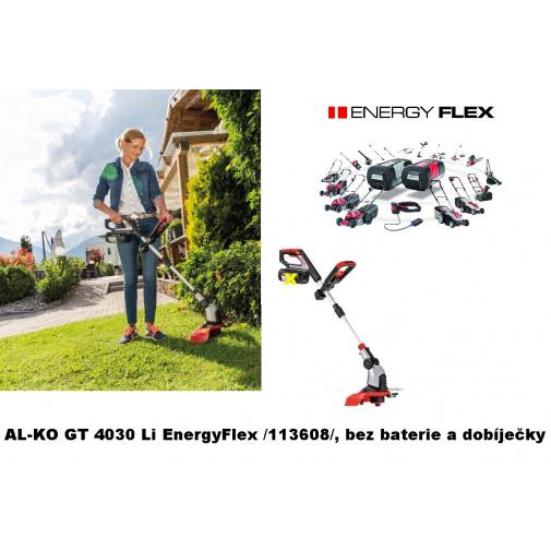 AL-KO GT 4030 Li EnergyFlex + AKCE Komfort servis, AKU strunová sekačka /113608/, bez baterie a dobíječky