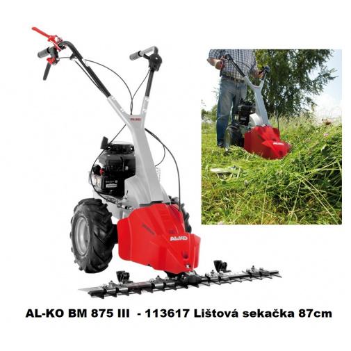 AL-KO BM 875 III  - 113617 Benzínová sekačka lištová se záběrem 87cm, B&S 625