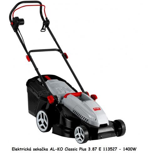 AL-KO Classic Plus 3.87 E 113527 + Komfortní servis, Elektrická sekačka se záběrem 38cm,1400W