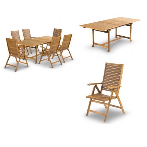 Fieldmann ARIA-T Sada dřevěného zahradního nábytku z akácie