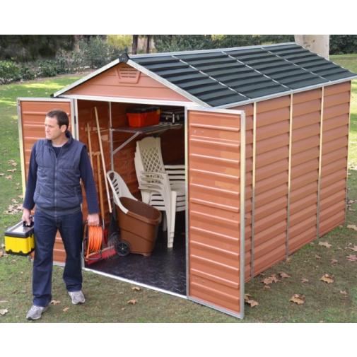 Palram Skylight 6x10 hnědý + AKCE, Zahradní domek na nářadí z polykabonátu, 297x170cm