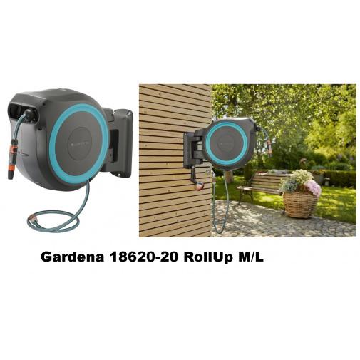 Gardena RollUp M/L 25m tyrkysový 18620-20 Nástěnný box na zahradní hadici, hadice 13mm/25m
