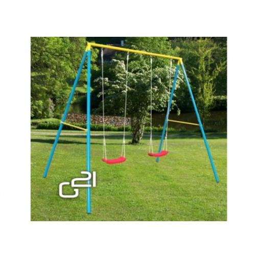 G21 double swing GA-2SW-0SL-B Zahradní houpačka (pro 2 děti)