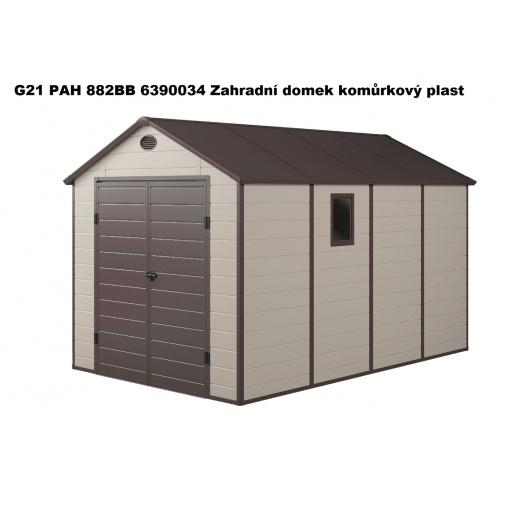 G21 PAH 882 BB béžový + AKCE, Zahradní domek na nářadí, tvrzený plast, 241x238x366 cm