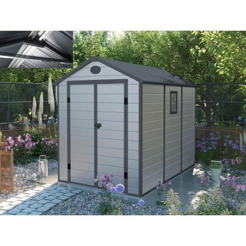 G21 PAH 523 LG světle šedý + AKCE, Zahradní domek na nářadí tvrzený plast, 1,9 x 2,8 m