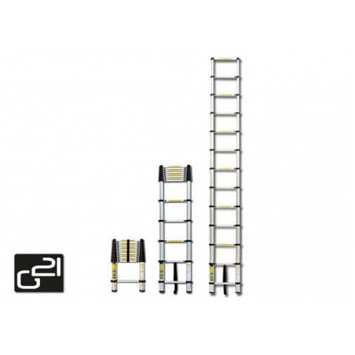 G21 GA-TZ13 Hobby teleskopický žebřík 3,8m hliníkový /6390432/