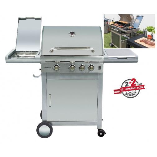 G21 California BBQ Premium line + AKCE Dárek, Zahradní plynový gril nerez s bočním vařičem