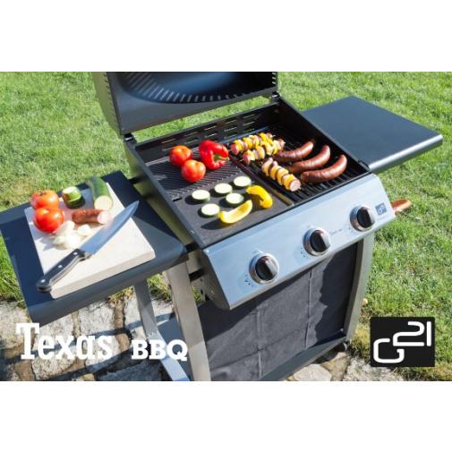 G21 Texas BBQ + AKCE Dárek, Zahradní plynový gril se třemi hořáky