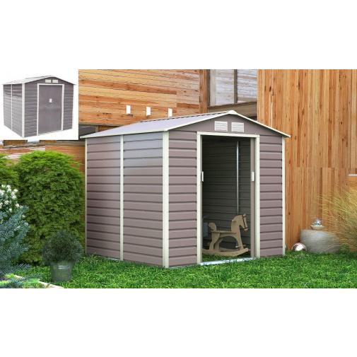 G21 GAH 407 šedý + AKCE, Plechový zahradní domek na nářadí, rozměr 213x191cm
