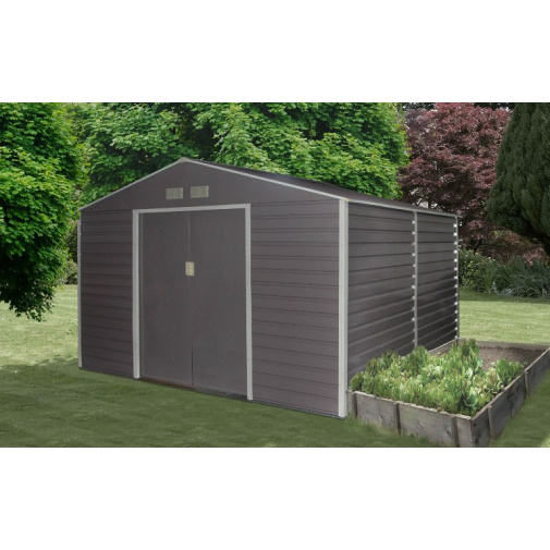 G21 GAH 529 šedý Zahradní plechový domek na nářadí 277 x 191 cm