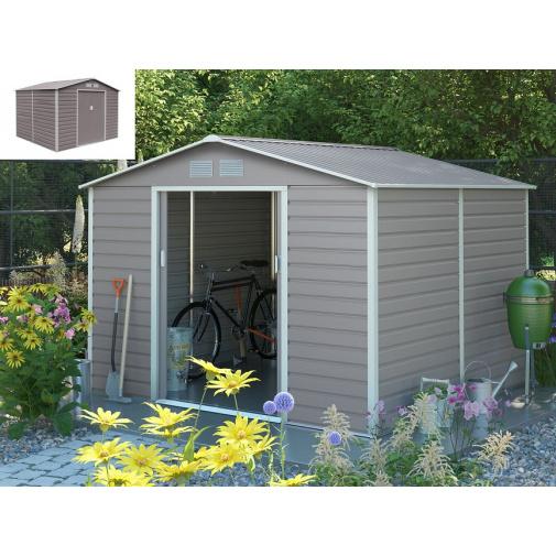 G21 GAH 706 šedý + AKCE, Zahradní plechový domek na nářadí 277 x 255 cm
