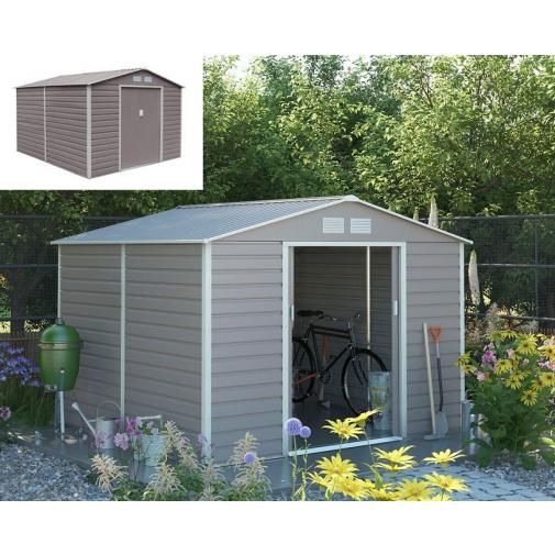 G21 GAH 884 šedý + AKCE, Zahradní plechový domek na nářadí 277 x 319cm