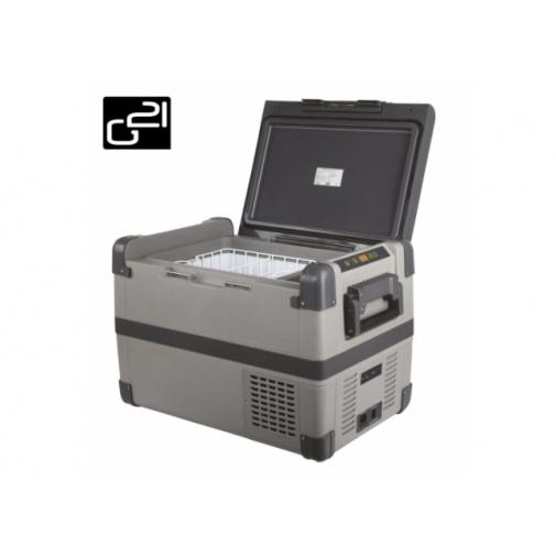 G21 C50 + AKCE, Autochladnička kompresorová o objemu 50l, napájení DC 12/24V / AC 230V