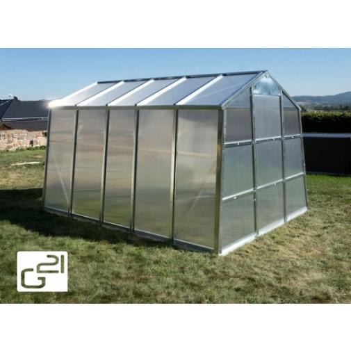 G21 GZ-59 + AKCE, Zahradní polykarbonátový skleník, pozinkovaná konstrukce, rozměr 2,5 x 3,1m
