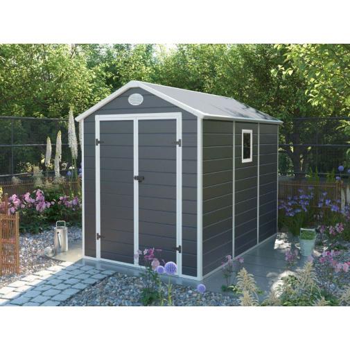 G21 PAH 523 šedý + AKCE, Zahradní domek na nářadí 1,9 x 2,8 m, tvrzený plast