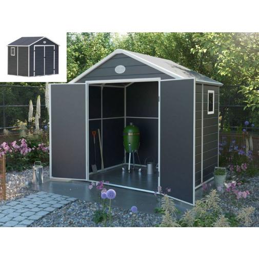 G21 PAH 458 šedý + DÁREK, Zahradní domek na nářadí 241 x 190 cm, tvrzený plast