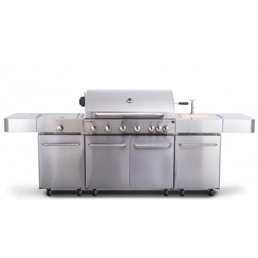 G21 Nevada BBQ Premium Line + AKCE Dárek, BBQ zahradní kuchyně s plynovým grilem a dřezem