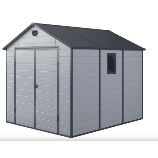 G21 PAH 670 LG světle šedý + AKCE, Zahradní domek na nářadí, tvrzený plast, 241 x 278 cm