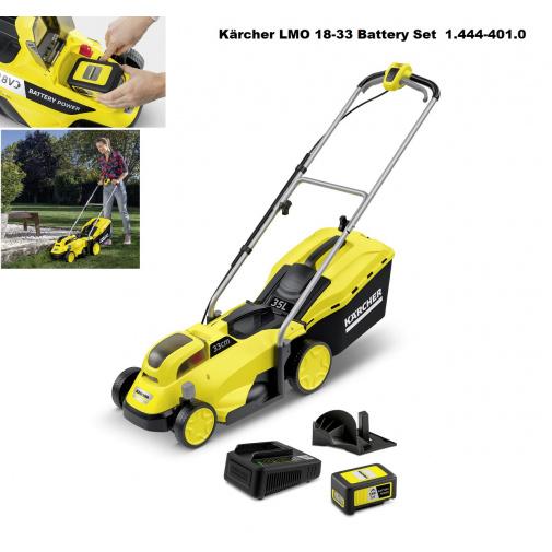 Kärcher LMO 18-33 Battery Set 1.444-401.0 AKU sekačka na trávu se záběrem 33cm, 18V/5Ah