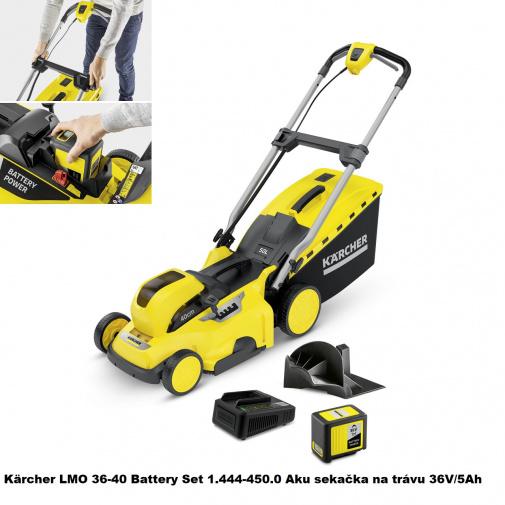 Kärcher LMO 36-40 Battery Set 1.444-450.0 + Náhradní nůž, Aku sekačka na trávu, včetně baterie 36V/5Ah