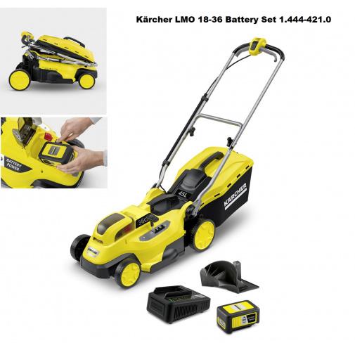Kärcher LMO 18-36 Battery Set 1.444-421.0 AKU sekačka na trávu se záběrem 36cm, 18V/5Ah