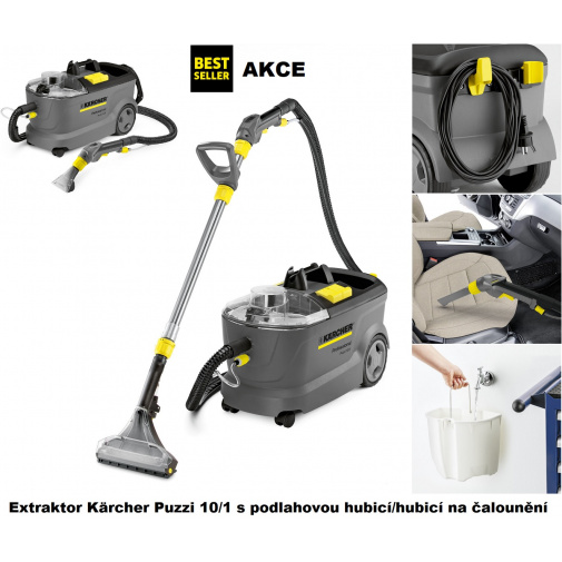 Kärcher Puzzi 10/1 + AKCE Záruka 36M, Profi tepovač, extraktor na koberce a čalounění 1.100-130.0