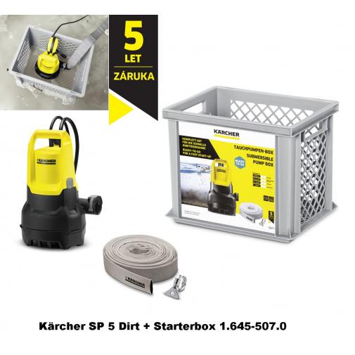 Kärcher SP 5 Dirt + Starterbox 1.645-507.0, Ponorné kalové čerpadlo včetně hadice + Záruka 5 let