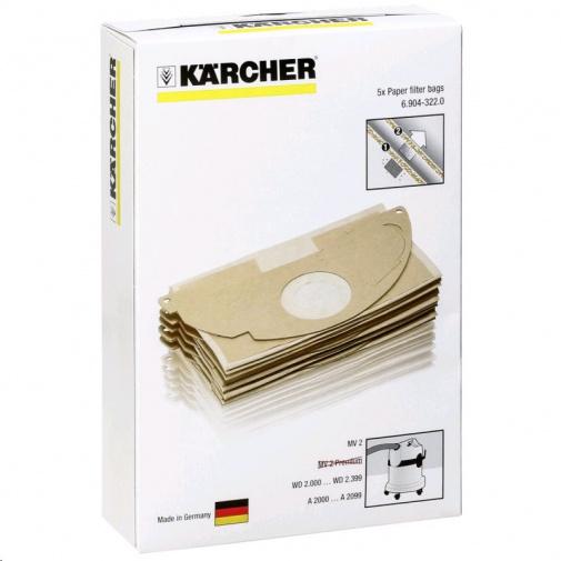 Kärcher 6.904-322.0 papírové filtrační sáčky balení 5ks (pro modely MV 2/WD 2)