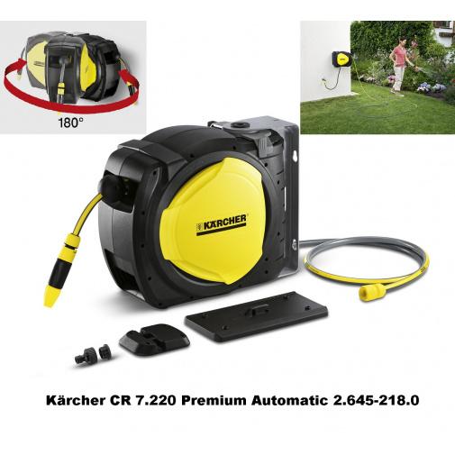Kärcher CR 7.220 Premium Automatic 2.645-218.0 Naviják a držák zahradní hadice + hadice 20m