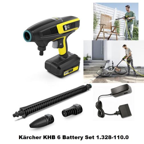 Kärcher KHB 6 Battery Set 1.328-110.0 + AKCE, Aku nízkotlaková myčka 18V/2,5Ah včetně baterie a dobíječky