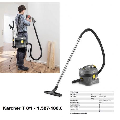 Kärcher T 8/1 Professional 1.527-188.0 + AKCE, Profi stavební vysavač pro řemeslníky s popruhem