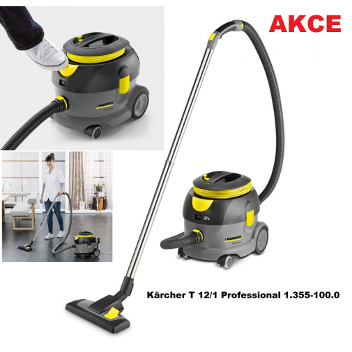 Kärcher T 12/1 Professional + AKCE, Průmyslový vysavač na suché nečistoty 1.355-100.0, nožní spínač