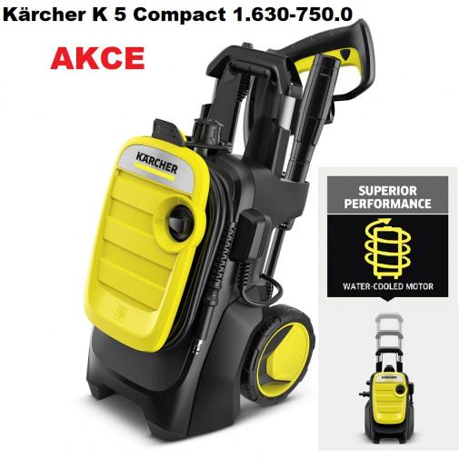 Kärcher K 5 Compact 1.630-750.0 + AKCE, Tlaková myčka kompaktní 20-145bar